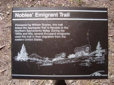 Nobles' Emigrant Trail Marker image. Click for full size.