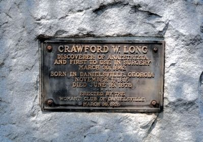 Crawford W. Long Marker image. Click for full size.
