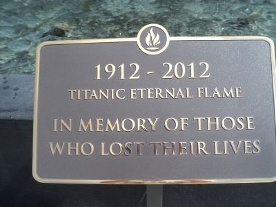 Titanic Eternal Flame Marker image. Click for full size.