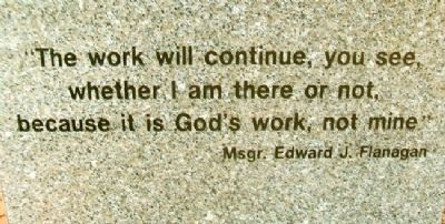 Msgr. Edward Joseph Flanagan Quote image. Click for full size.