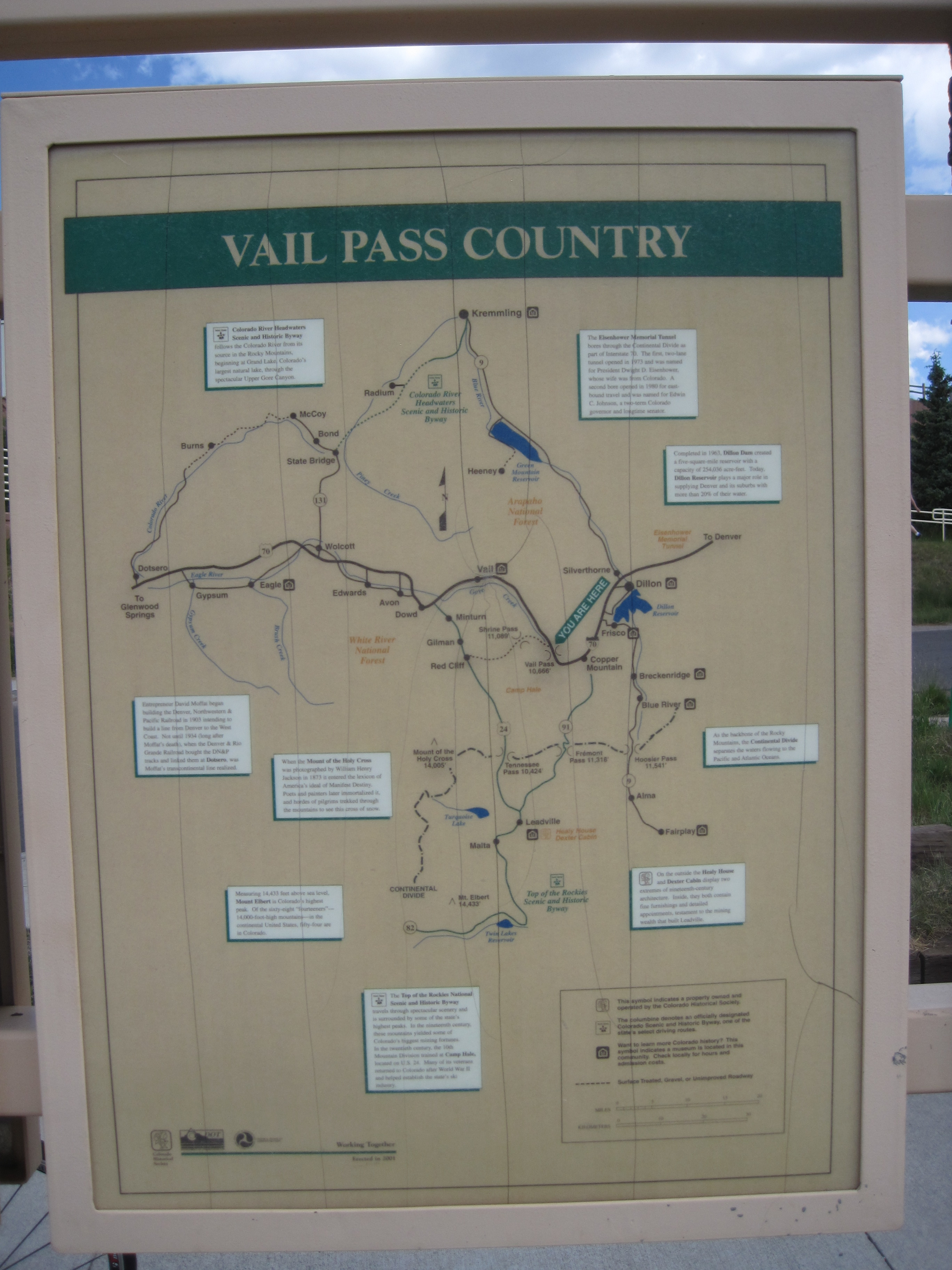 Vail Pass Country Marker