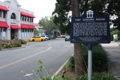 The Lesesne House Marker, looking west along Centre Street image. Click for full size.