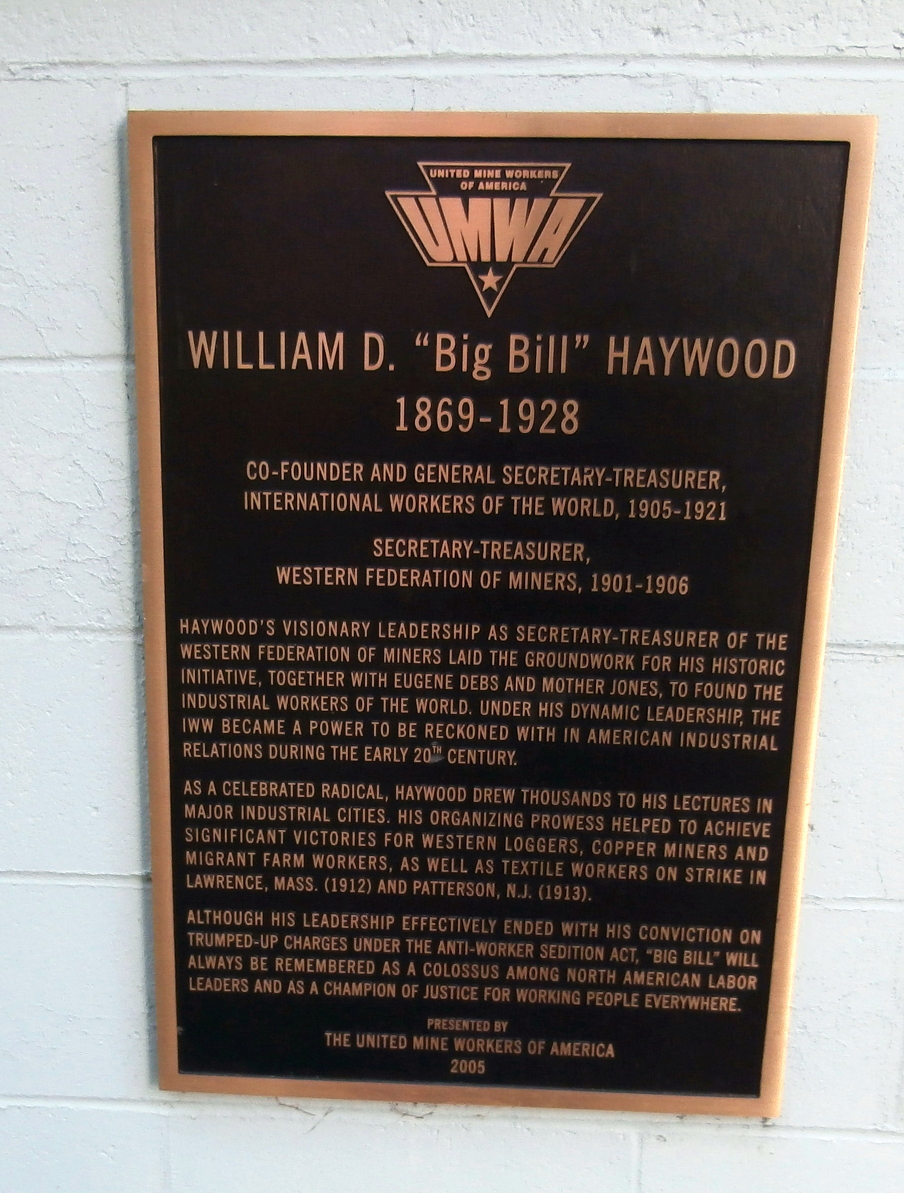 "William D. ""Big Bill"" Haywood Marker"
