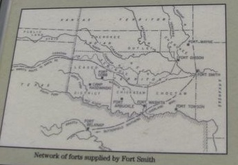 Network of forts supplied by Fort Smith.