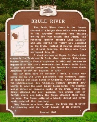 Brule River Marker image. Click for full size.