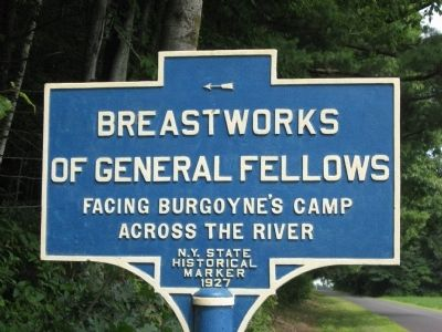 Breastworks of General Fellows Marker image. Click for full size.