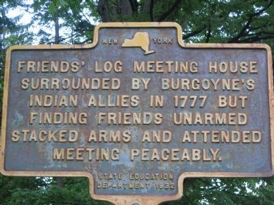 Friends Log Meeting House Marker image. Click for full size.