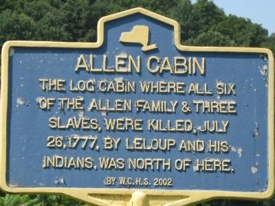 Allen Cabin Marker image, Touch for more information