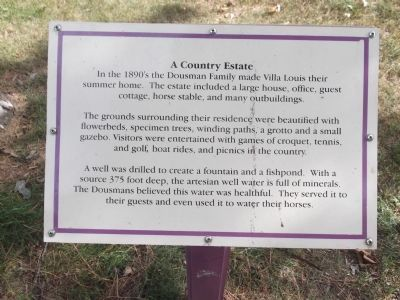 Another marker on the Villa Louis grounds image. Click for full size.