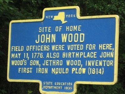 Site of home of John Wood Marker image. Click for full size.