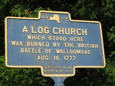 A Log Church Marker image. Click for full size.