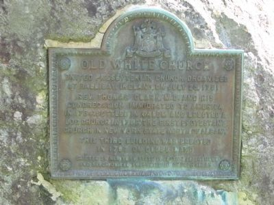 Old White Church Marker image. Click for full size.