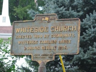 WhiteSide Church Marker image. Click for full size.