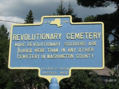 Revolutionary Cemetery Marker image. Click for full size.