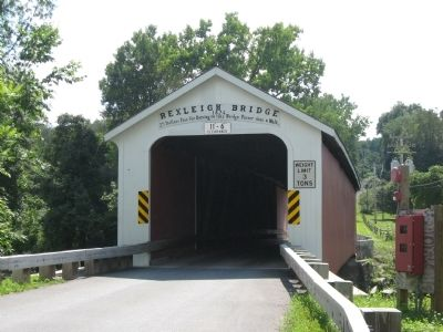 Rexleigh Covered Bridge Marker image. Click for full size.