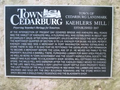 Kaehlers Mill Marker image. Click for full size.
