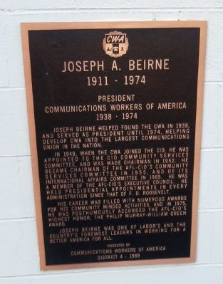 Joseph A. Beirne Marker image. Click for full size.