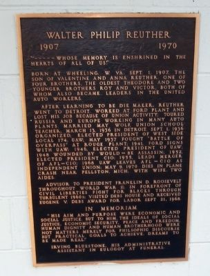 Walter Philip Reuther Marker image. Click for full size.
