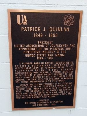 Patrick J. Quinlan Marker image. Click for full size.