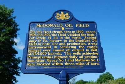 McDonald Oil Field Marker image. Click for full size.