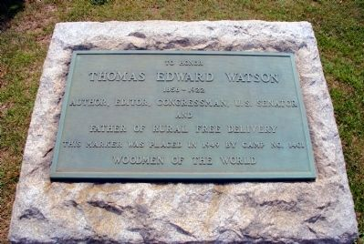 To Honor Thomas Edward Watson Marker image. Click for full size.