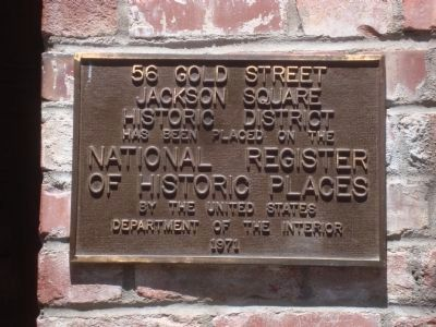 56 Gold Street Marker image. Click for full size.
