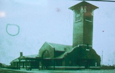 Union Depot Photo on Marker image. Click for full size.