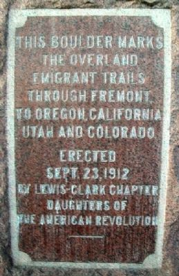 Overland Emigrant Trails Marker image. Click for full size.