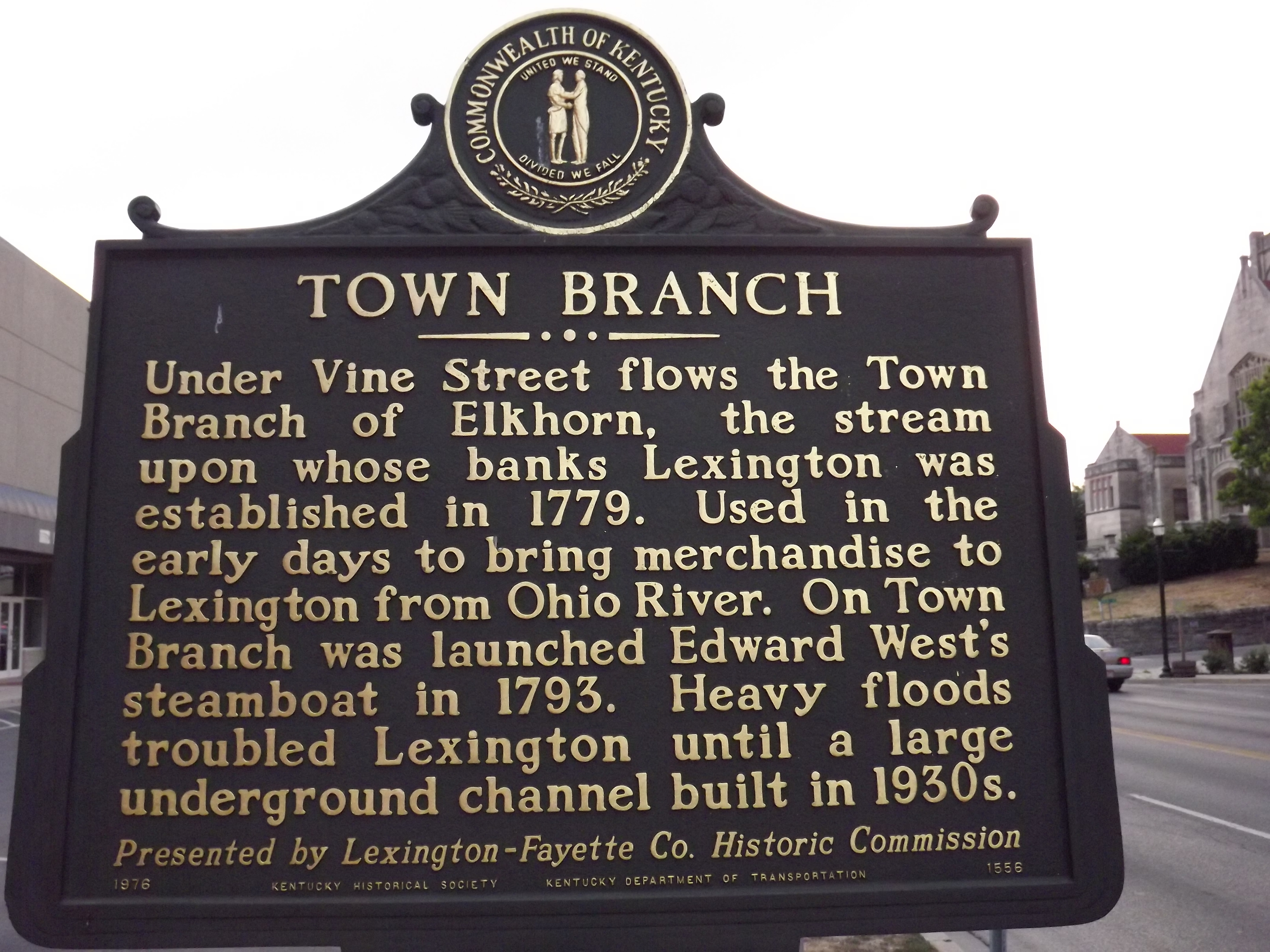 Town Branch Marker