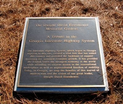 The Dwight David Eisenhower Memorial Gardens Marker image. Click for full size.