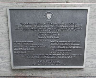 <i>Panel 3</i>: National Law Enforcement Officers Memorial - Construction Plaque image. Click for full size.