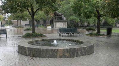 John Marshall Park, Lily Pond with Washington City Spring Marker: image. Click for full size.