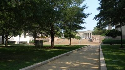 View from John Marshall Park, north across C Street, NW - the location of the old Washington Spring image. Click for full size.