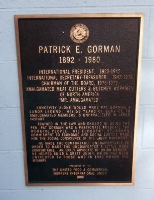 Patrick E. Gorman Marker image. Click for full size.