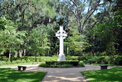 The Wesley Memorial Garden and the Celtic Cross image. Click for full size.