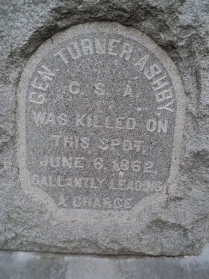 Gen. Turner Ashby Marker image. Click for full size.