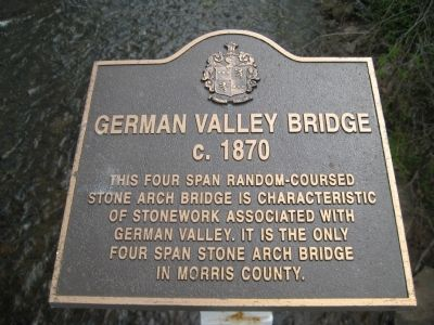 German Valley Bridge Marker image. Click for full size.