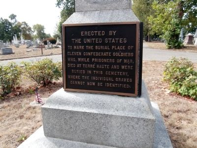 Confederate Soldiers Buried in this Cemetery Marker image. Click for full size.