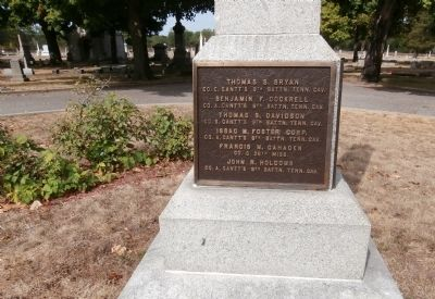 Left Plaque - - Confederate Soldiers Buried in this Cemetery Marker image. Click for full size.