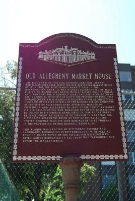 Old Allegheny Market House Marker image. Click for full size.
