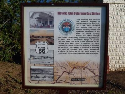 Historic John Osterman Gas Station Marker image. Click for full size.