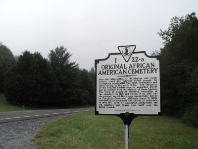Original African American Cemetery Marker image. Click for full size.