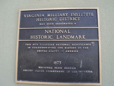 Virginia Military Institute Historic District Marker image. Click for full size.