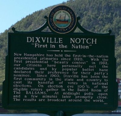 "Dixville Notch ""First in the Nation"" image. Click for full size."