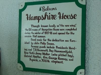 The Balsams Hampshire House image. Click for full size.