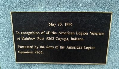 American Legion Veterans Marker image. Click for full size.