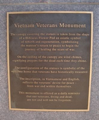 Vietnam Veterans Monument Marker image. Click for full size.