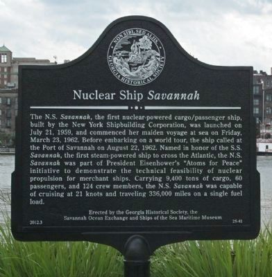 Nuclear Ship Savannah Marker image. Click for full size.