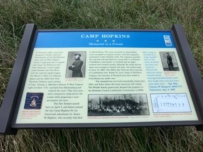 Camp Hopkins Marker image. Click for full size.