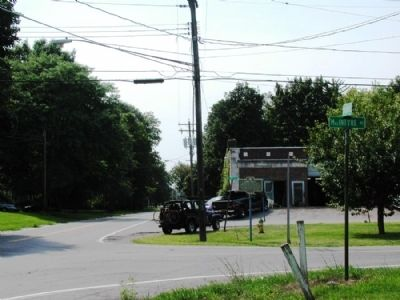 Fowlerville Marker as seen facing east on Co. Rte. 5 image. Click for full size.